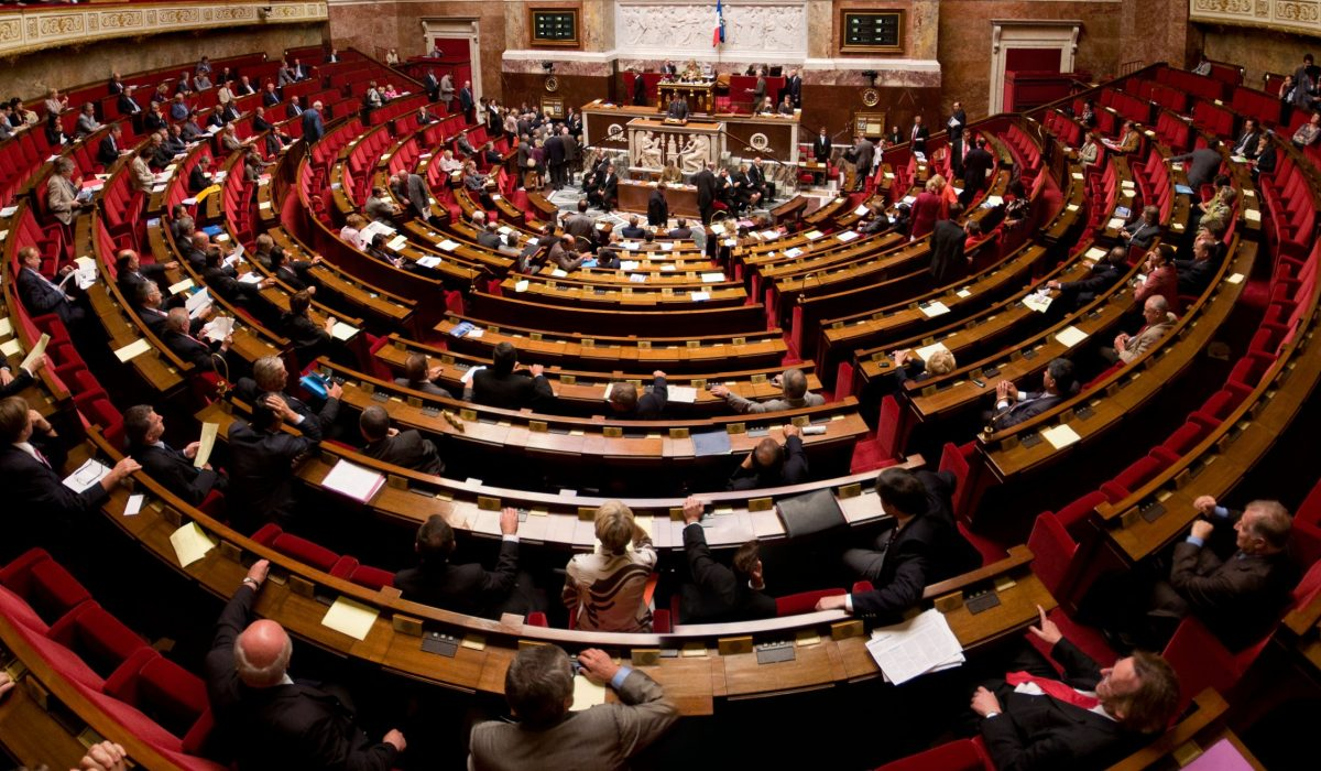 Hémicycle de l'Assemblée Nationale, 2009.