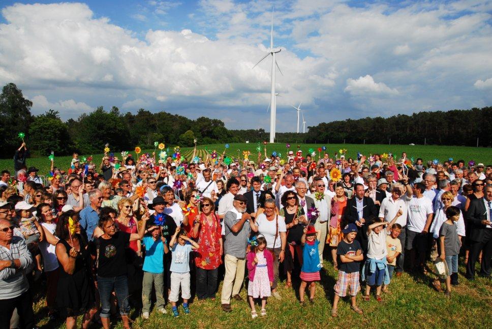 Inauguration des eoliennes citoyennes de Beganne