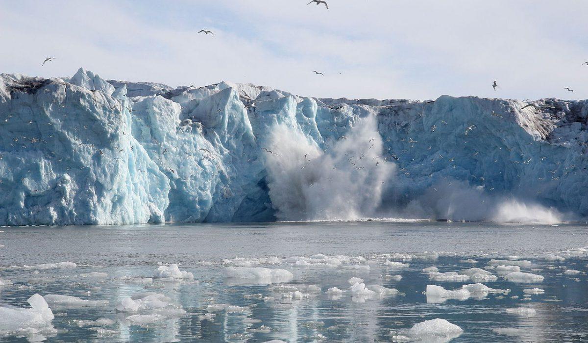 Glacier de Monacobreen, Svalbard, Arctique