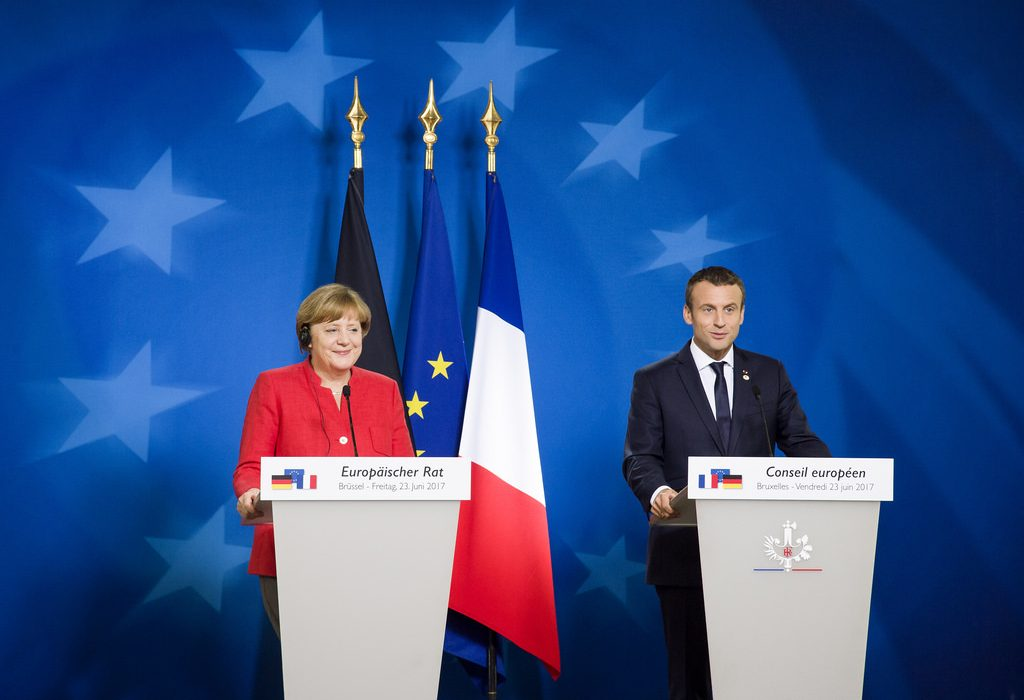 Angela Merkel et Emmanuel Macron (c)  European Council