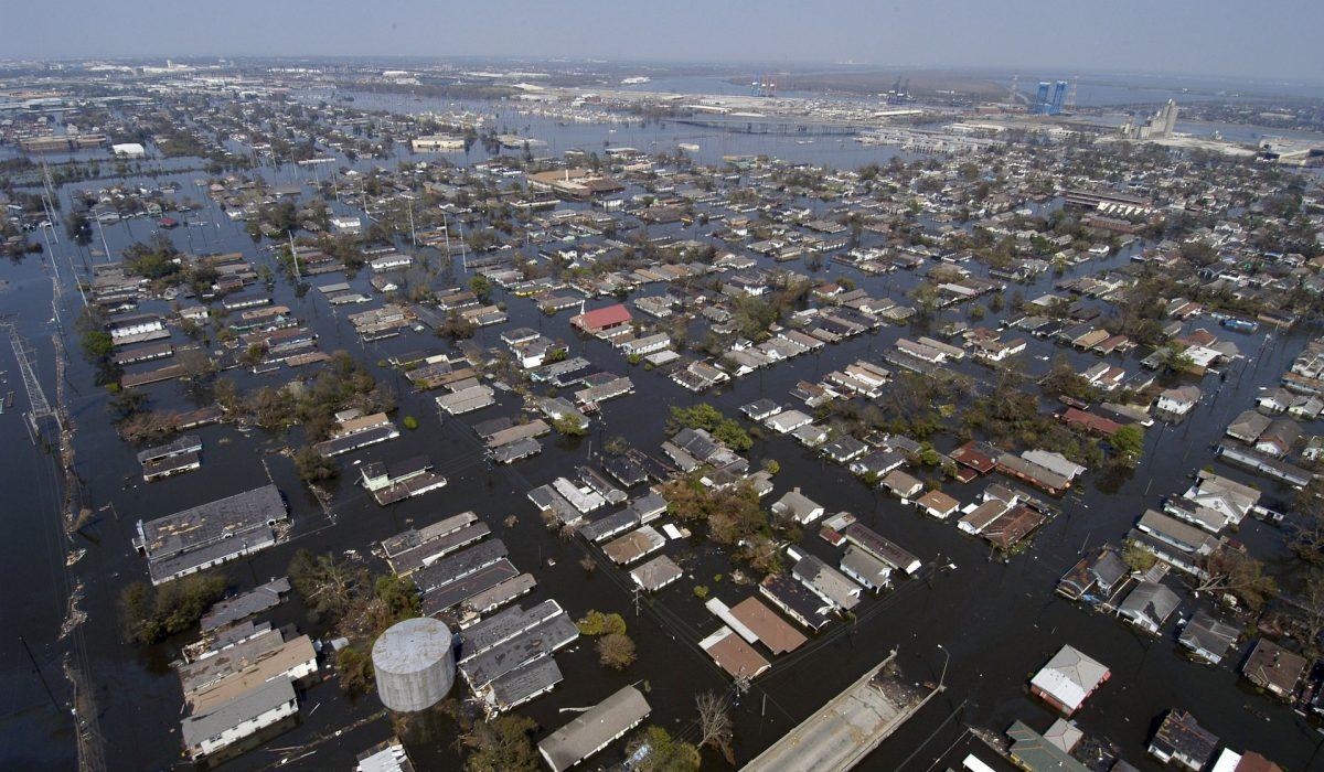Inondation de la Nouvelle-Orléans après le passage du cyclone Katrina (2005)