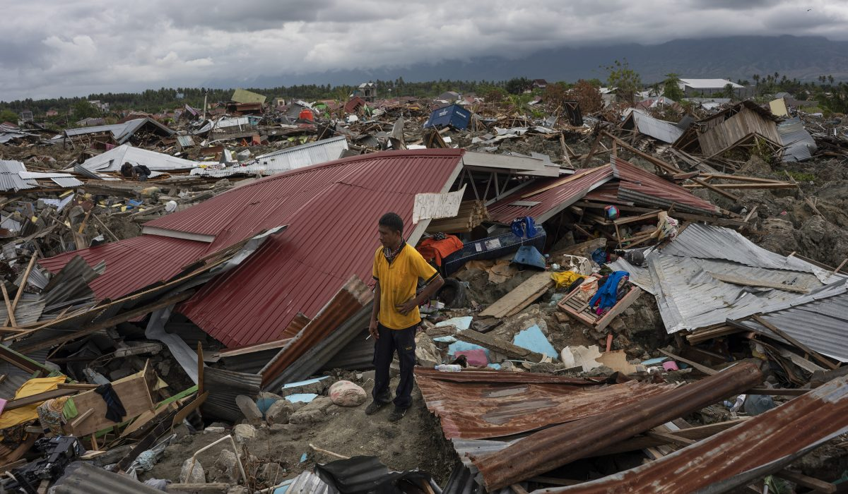 Nardi (40), lost his mother-in-law due to Earthquake and liquefaction, Petobo Village, Palu, Central Sulawesi. Palu, Central Sulawesi, Indonesia. .October 13th 2018