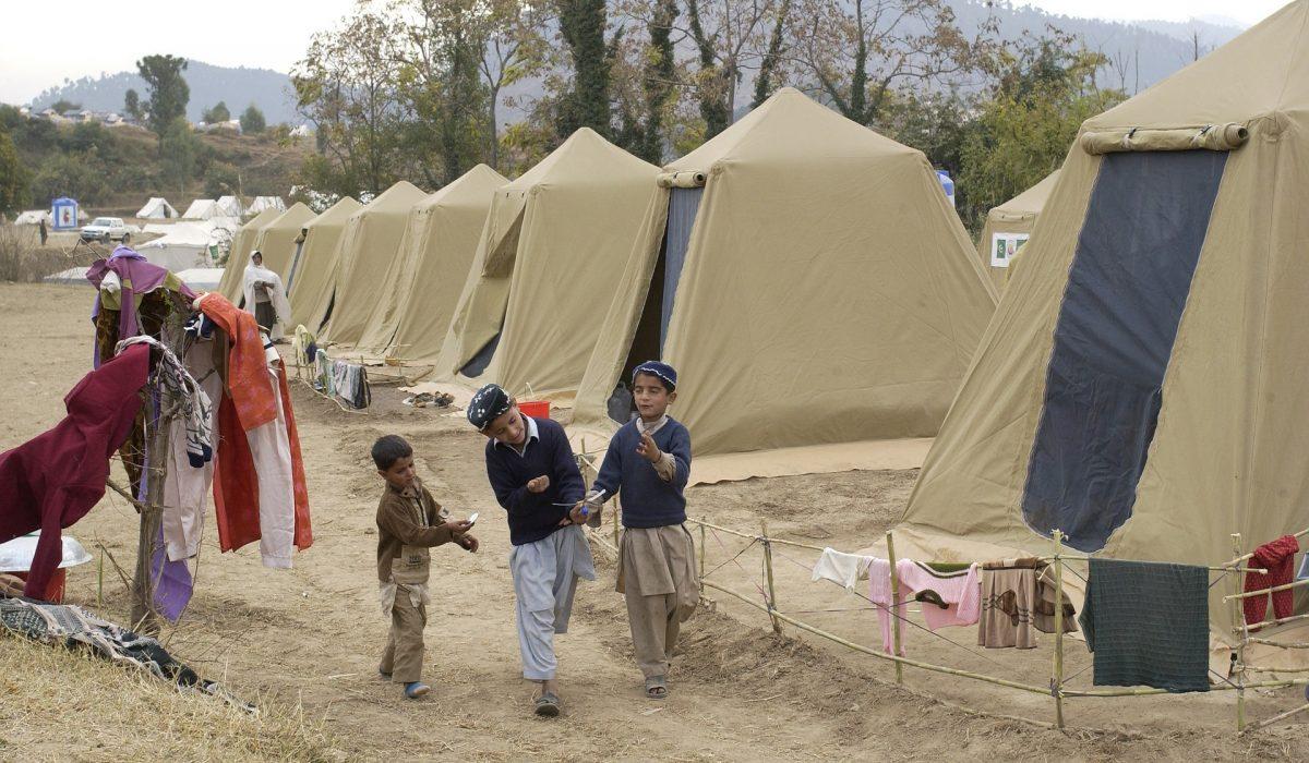 Camp de réfugiés au Pakistan
